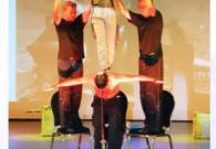 Jeroen als sport entertainer in Griekenland